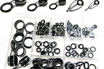 THKFISH Freshwater Saltwater Suf casting Black Silver Tarnish Fishing Rod Parts Tip Tops Black Stainless Repair Guides DIY Set Kits